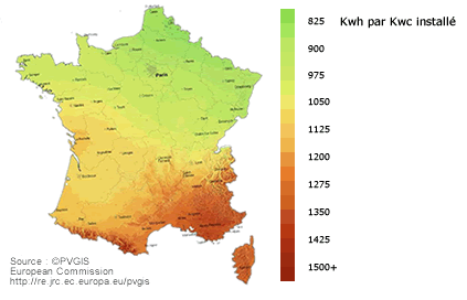 Photovoltaique rendement calcul